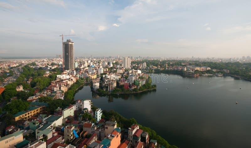 cityscape hanoi arkivfoton