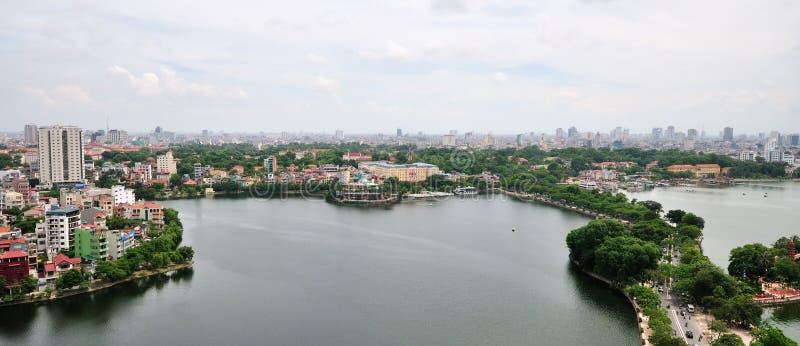 cityscape hanoi vietnam arkivfoton