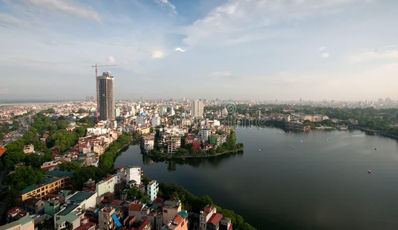 cityscape hanoi vietnam arkivbilder