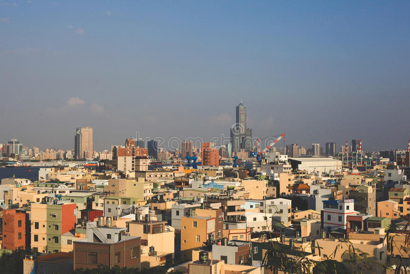 Cityscape of the Harbor City, Kaohsiung stock photos