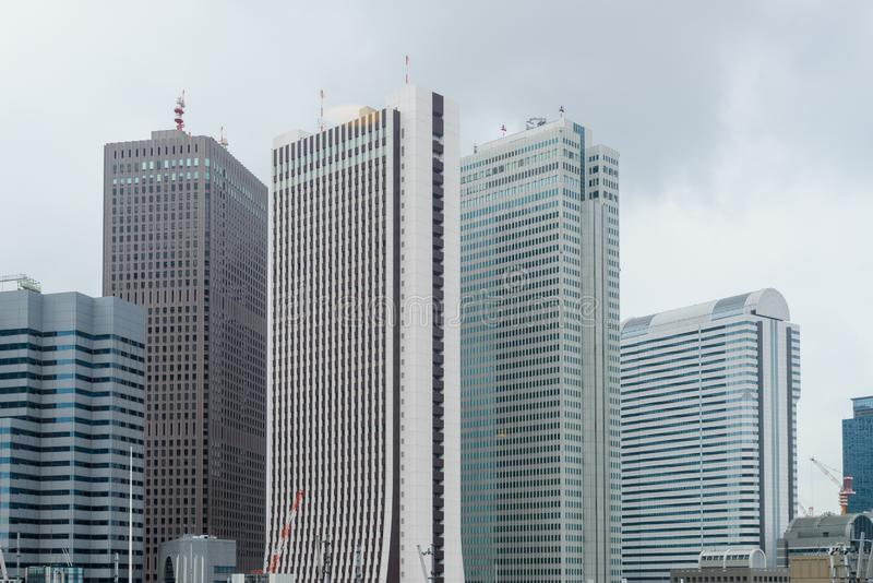 High-rise buildings on afternoon time in Tokyo, Japan - Cityscape. Cityscape - High-rise buildings in Tokyo, Japan royalty free stock photo