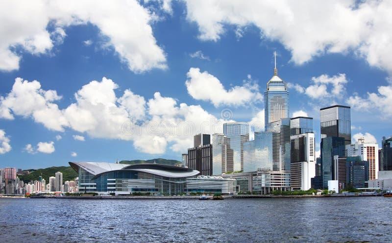 cityscape Hong Kong arkivfoton