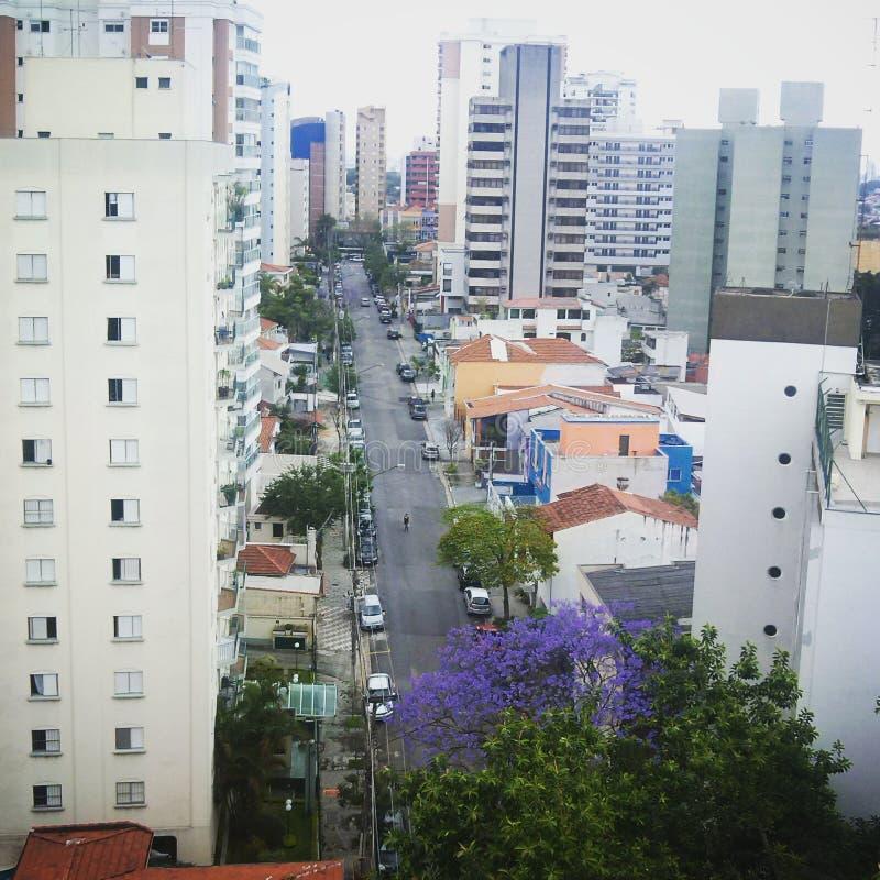 Cityscape Horizonmening van hierboven stock foto