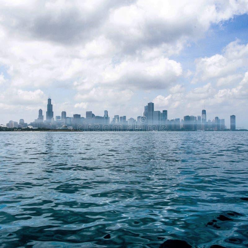 CityScape i dimma arkivfoton