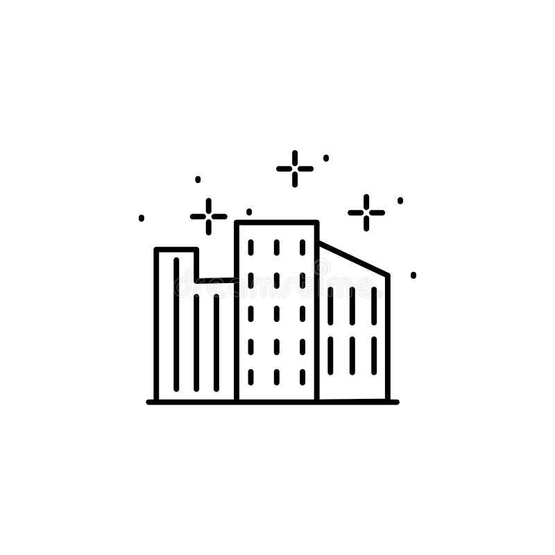Cityscape, icono de construcción Icono de elemento geográfico ilustración del vector