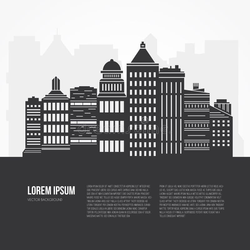 Cityscape Illustratie vector illustratie
