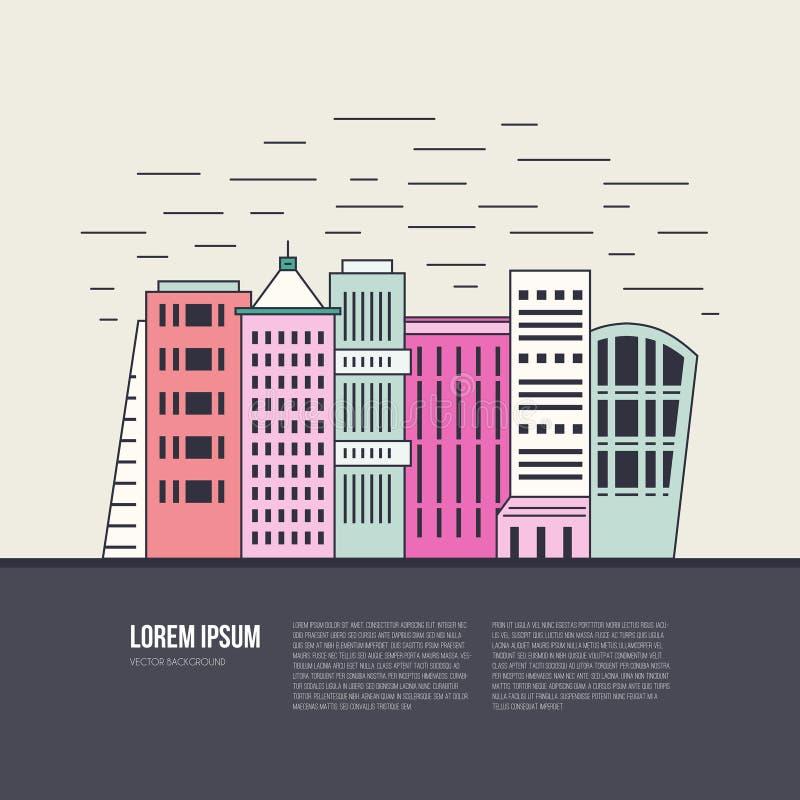 Cityscape Illustratie stock illustratie