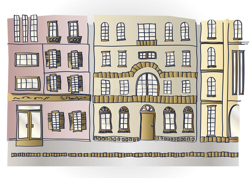 Cityscape. It is an illustration of the cityscape royalty free illustration