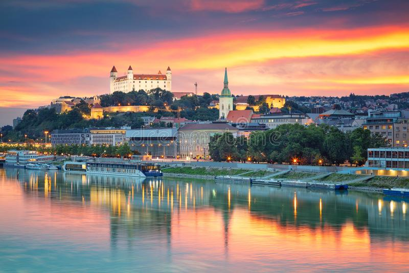 City of Bratislava, Slovakia. stock photography