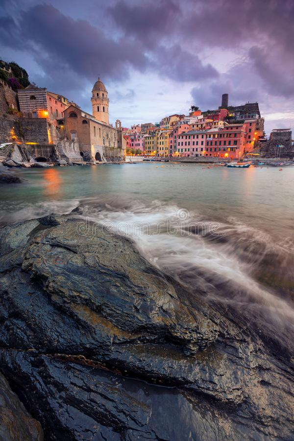 Vernazza, Italy. stock photos