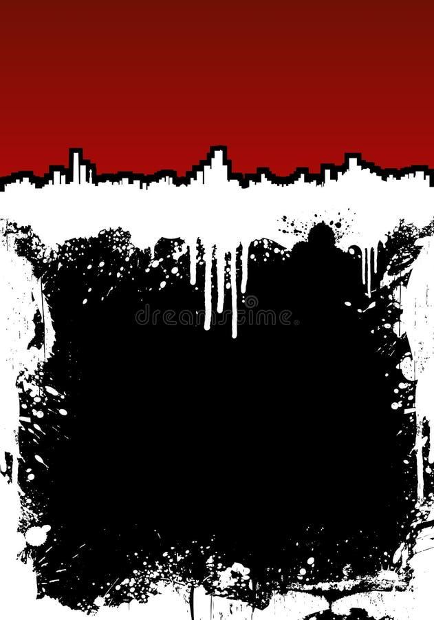 Download Cityscape Ink Splatter Frame Background Stock Vector - Image: 5440777