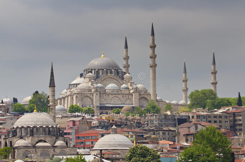 Cityscape of Istanbul royalty free stock photography