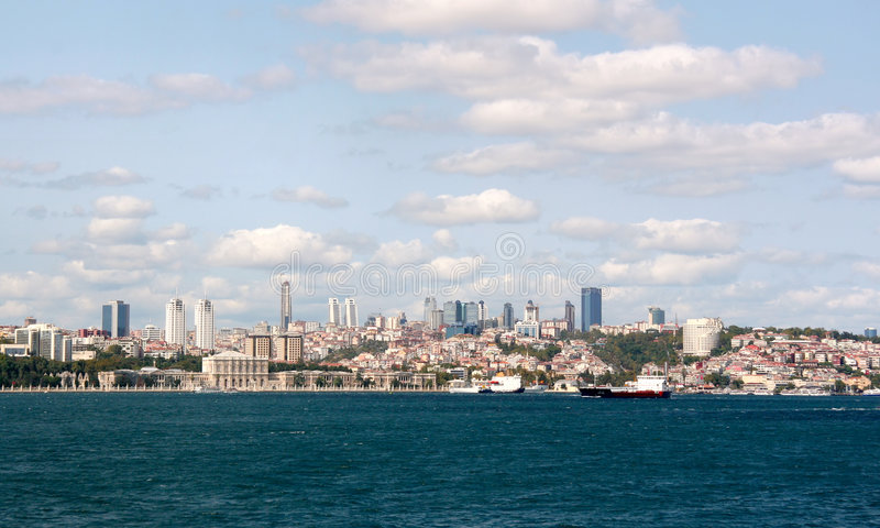 Cityscape of Istanbul royalty free stock image