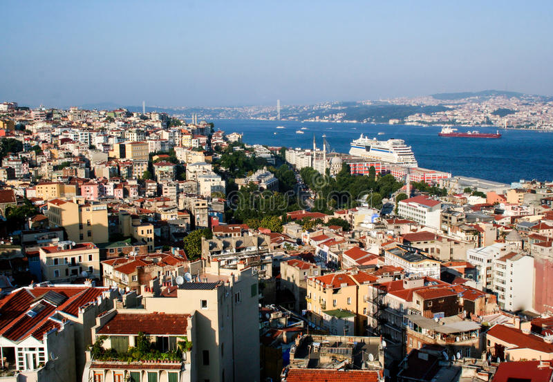 Cityscape of Istanbul stock image