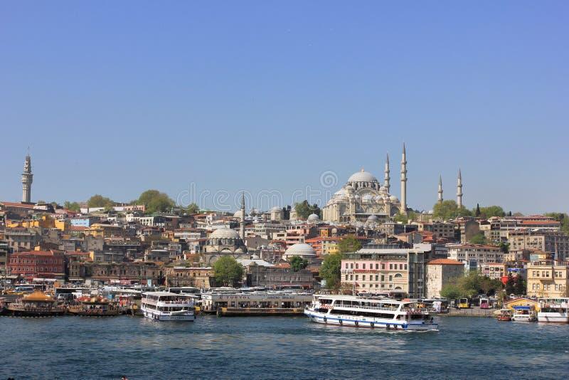 Istanbul panorama, Turkey stock photography