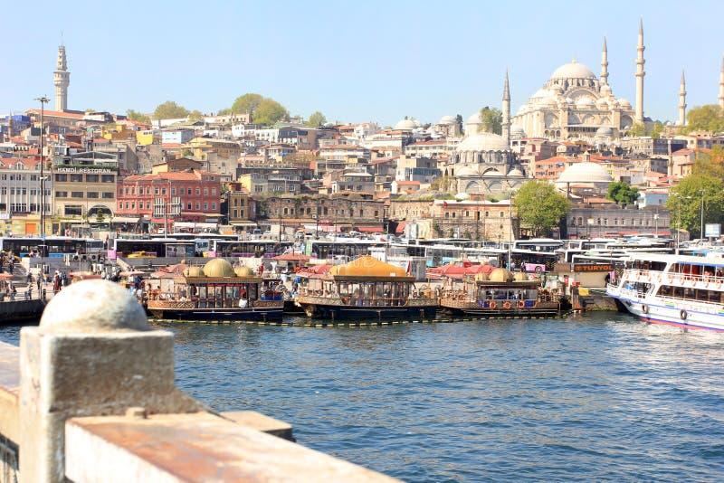 Istanbul panorama, Turkey stock photo
