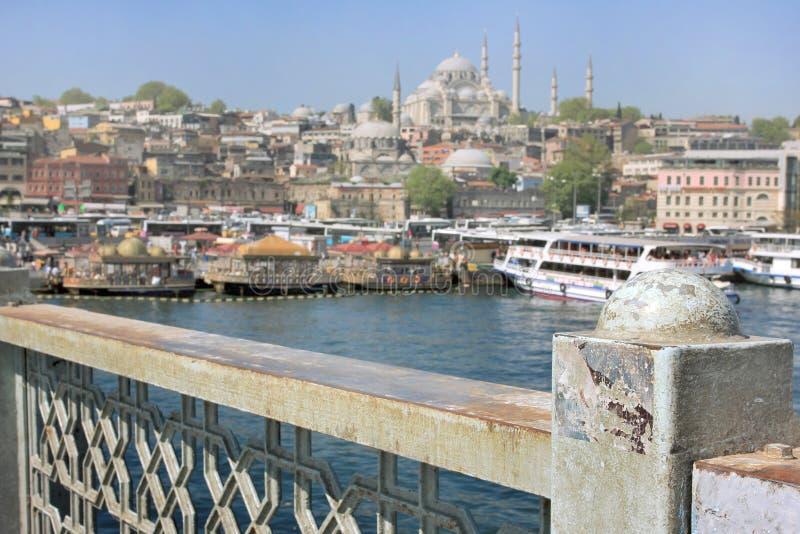 Istanbul panorama, Turkey royalty free stock photos