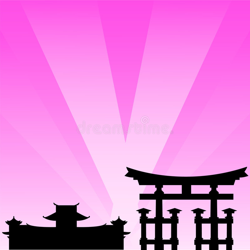 Cityscape, Japan. A vector illustration stock illustration