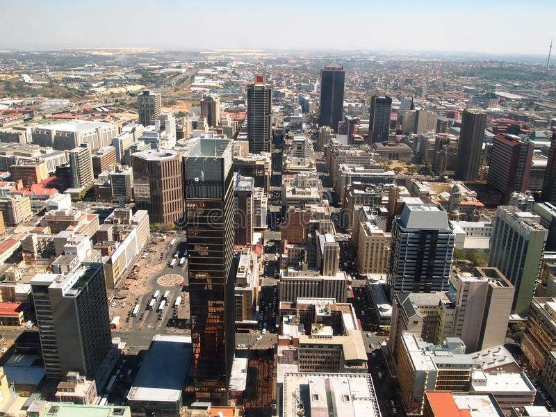 Cityscape of Johannesburg. City center. Panorama stock photography
