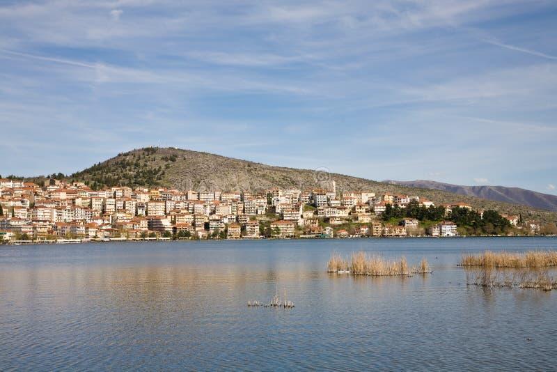 Cityscape of Kastoria, Greece royalty free stock photos