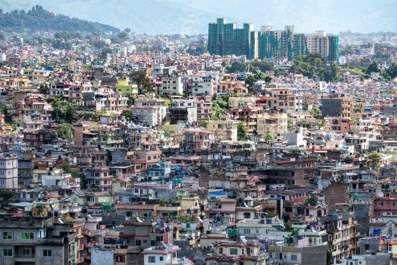 Cityscape of Kathmandu, Nepal stock photos