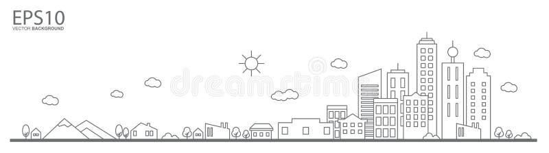 cityscape Krajobrazowy płaski projekta pojęcie ilustracji