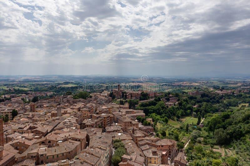 Cityscape landscape Siena, Tuscany, Toscana, Italy, Italia stock photo