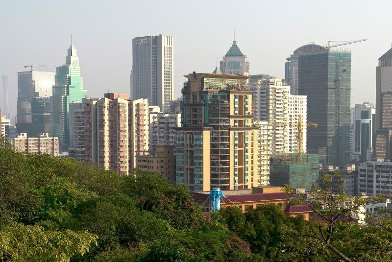 Cityscape landschap stock afbeeldingen