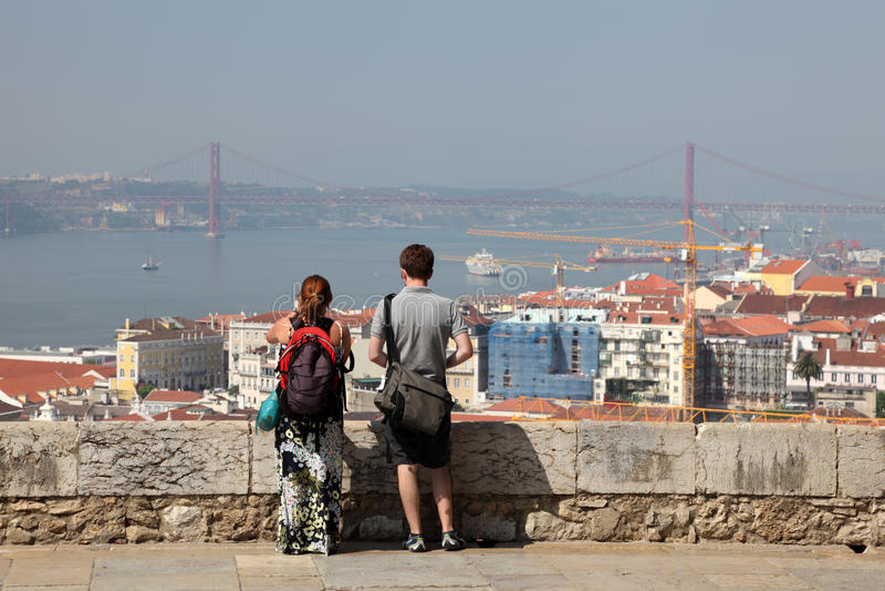 cityscape lisbon portugal royaltyfri foto