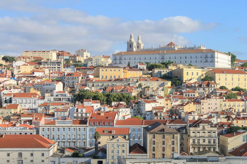Cityscape of Lisbon, Portugal. stock images