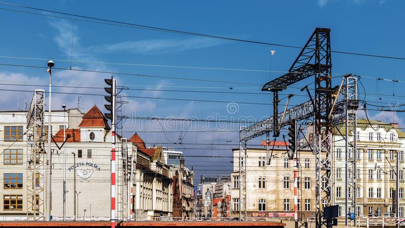 Cityscape with the Main Post Office royalty free stock image