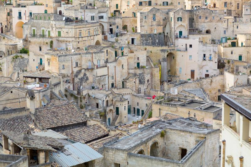 Cityscape of Matera, Italy royalty free stock photos