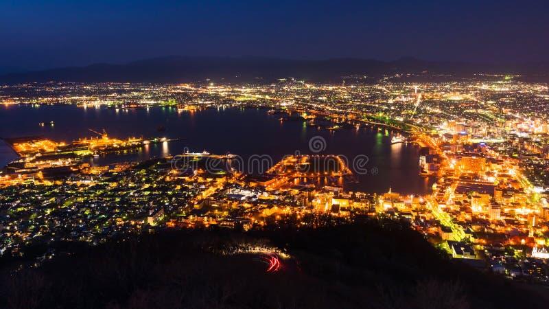 cityscape mening van MT Ropeway van Hakodate royalty-vrije stock afbeeldingen