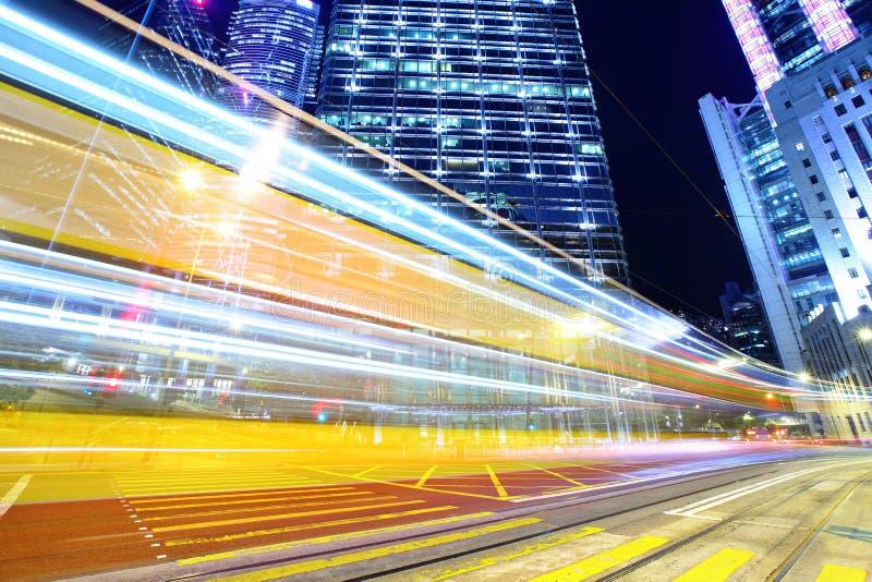 Cityscape met bezig verkeer stock afbeelding