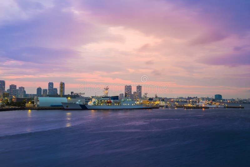 Cityscape of Minato Mirai, Yokohama, Japan stock photography