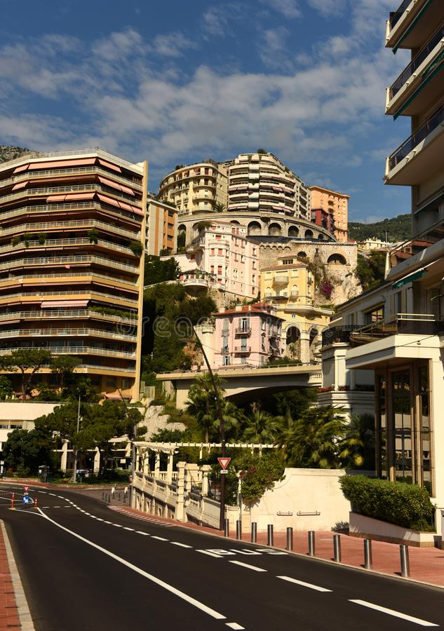 cityscape monaco Monaco och Beausoleil fastighet royaltyfri foto