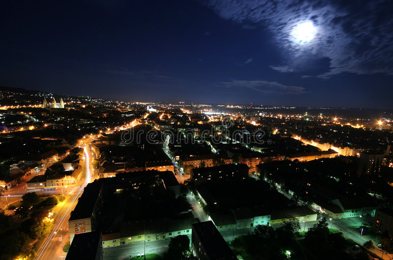 Download Cityscape At Moonlight Royalty Free Stock Photos - Image: 3631318