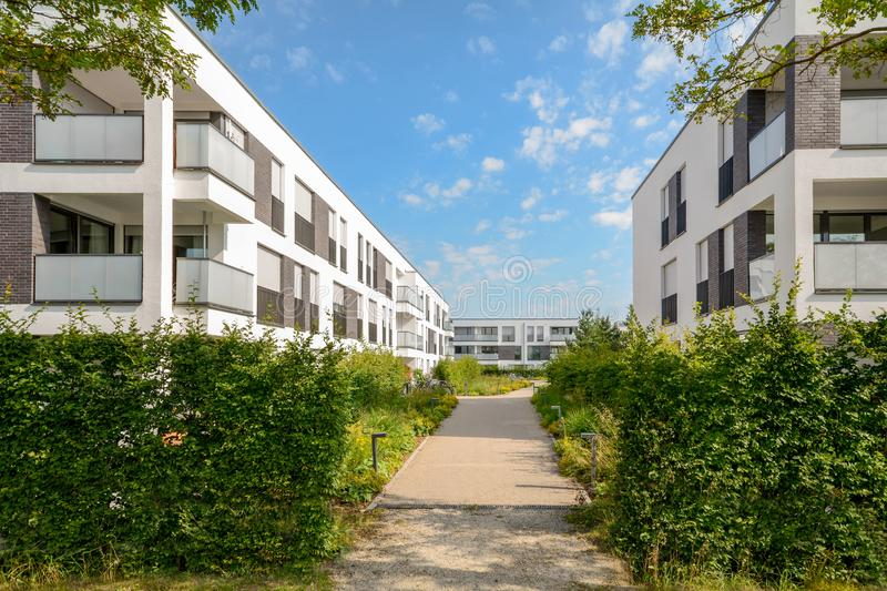Cityscape with new modern residential buildings. Europe royalty free stock images