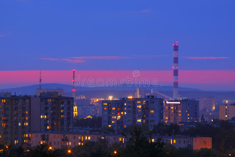 Cityscape in night royalty free stock images