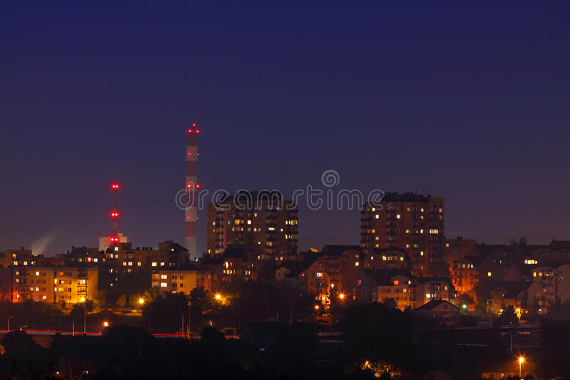 Cityscape in night stock image