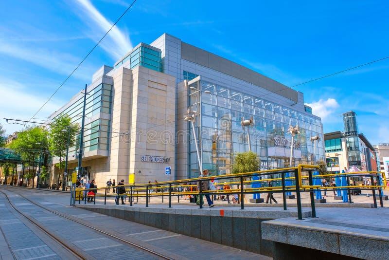 Cityscape och arkitektur på den Manchester City mitten royaltyfria bilder