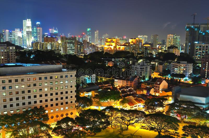 Cityscape At Orchard And CBD Area By Night Royalty Free Stock Photos