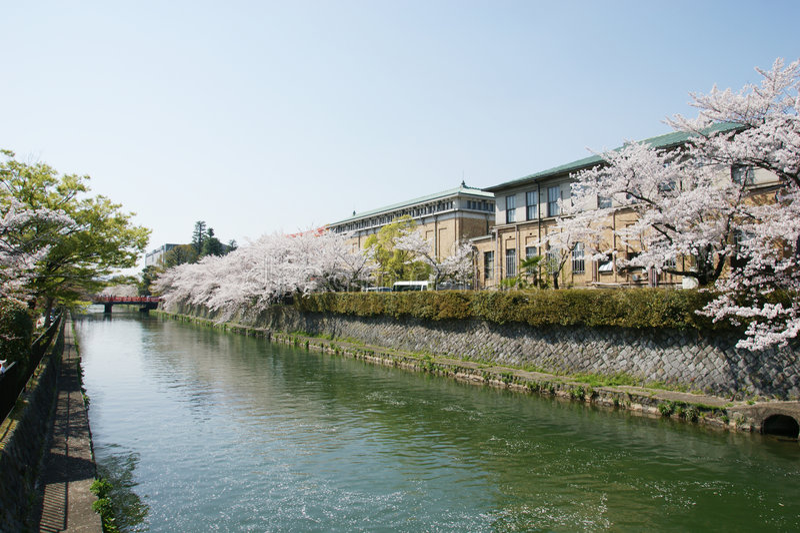 Cityscape Osaka stock foto's