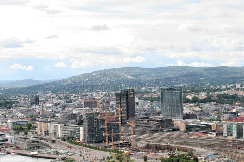 Cityscape of oslo norway stock image