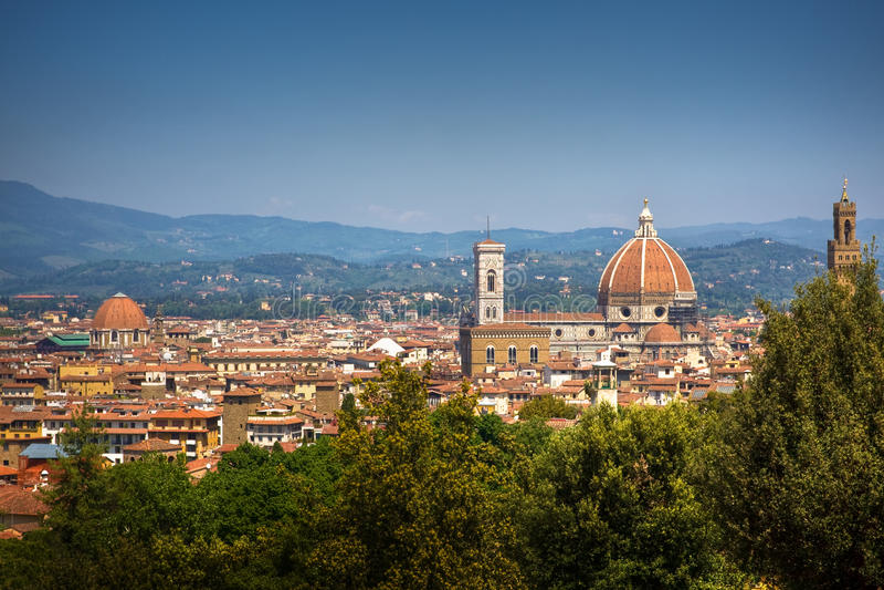 cityscape panorama- firenze arkivfoton