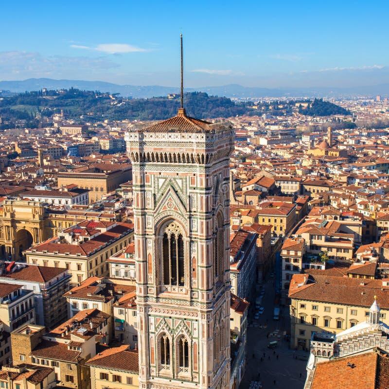 Cityscape panorama van in Florence, Toscanië, Italië Mening van Flo stock foto