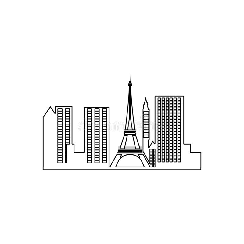 cityscape of Paris icon. Element of Cityscape for mobile concept and web apps icon. Outline, thin line icon for website design and stock illustration