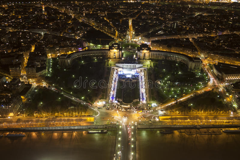 Cityscape of Paris at night royalty free stock photos