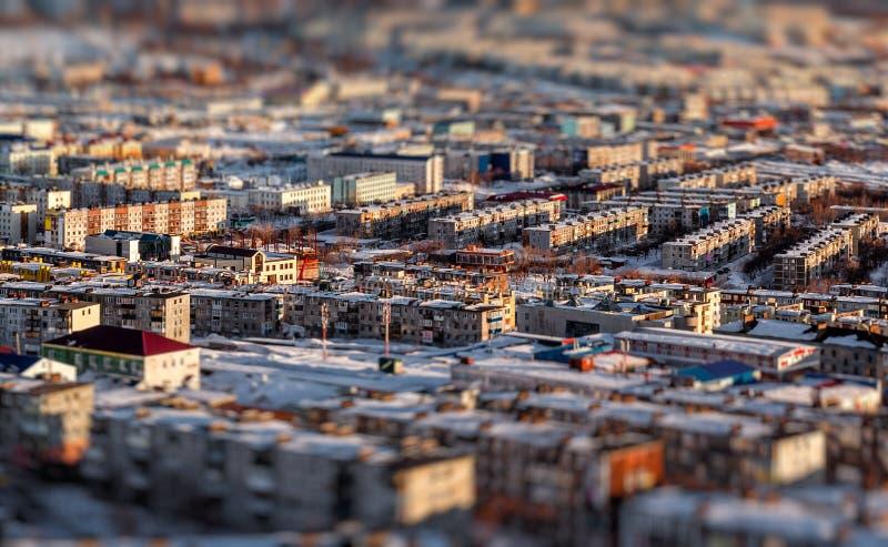 Cityscape Petropavlovsk-Kamchatsky stock foto