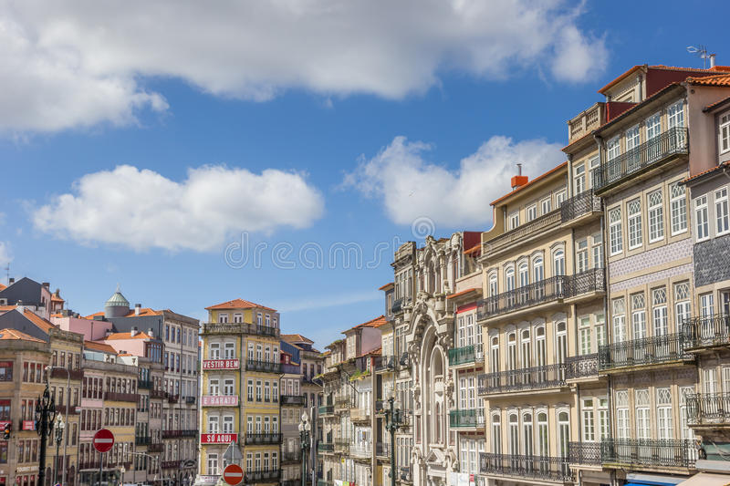 Cityscape of Porto with colorful houses stock image